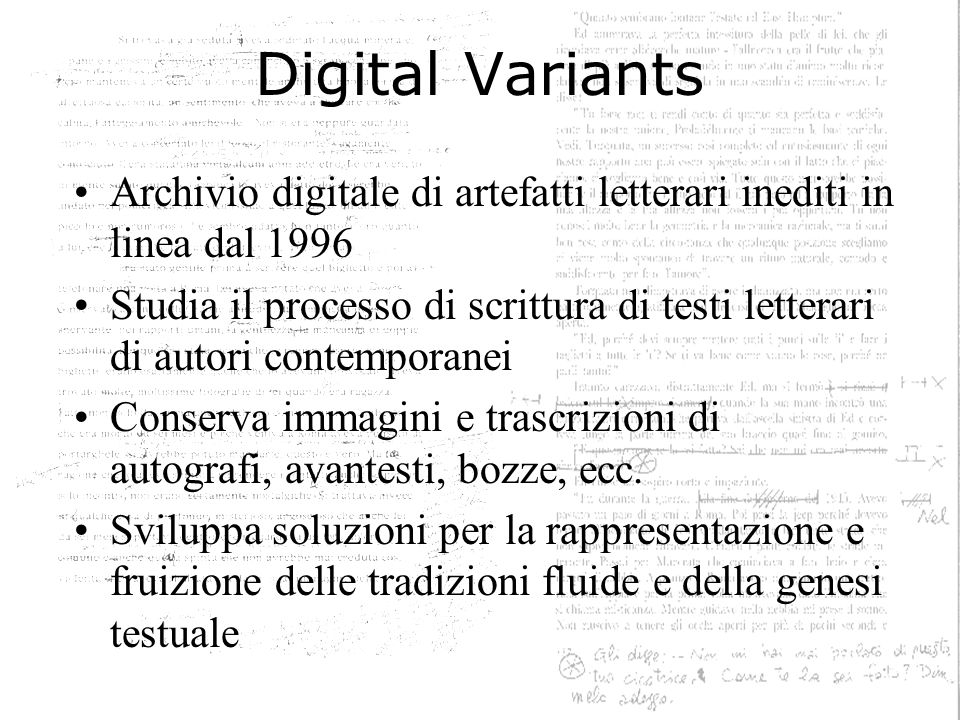 Verso il Web 2.0 Generatori di testo –Insulti shakespeariani, Lettere di protesta, –PAC, TagCrowdPACTagCrowd Scritture collettive / Autorialità multipla –Newsgroup, MUD, WebsapiensNewsgroupWebsapiens –Blog, Wikinovela, Literatrónica, LitPartWikinovelaLiteratrónicaLitPart Testi processuali –FuzzMail, WriteBoardWriteBoard Testi visuali –What is an author , Mark America: FilmtextWhat is an author Filmtext –Gutenkarte, AmazType, TextArc, TierraGutenkarteAmazTypeTextArcTierra Oltre il testo –CaveWriting, Game, game, gameCaveWritingGame, game, game –La fine del ciberspazio: SpimeSpime Web 1.0 + + Web 2.0
