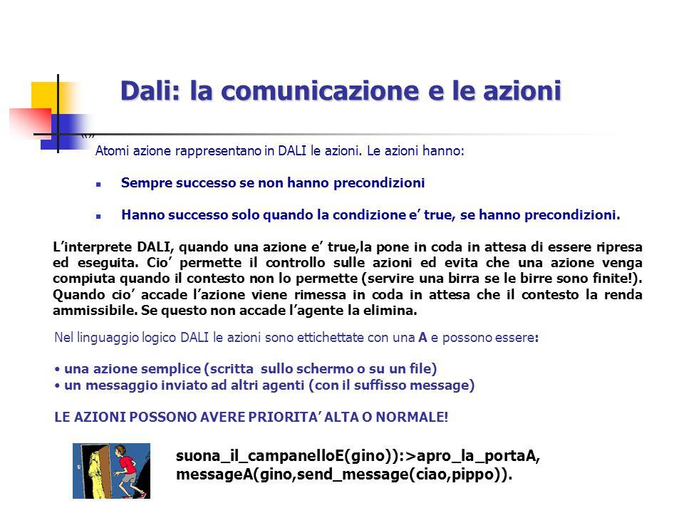 Dali: la comunicazione e le azioni Atomi azione rappresentano in DALI le azioni.