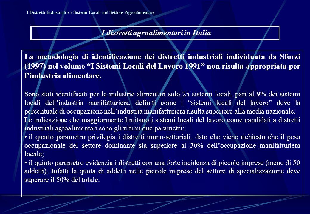L'importanza dei comparti nell'industria alimentare italiana 1991-1996 15.7Alimentaz.
