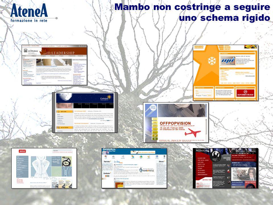 L'amministrazione di Mambo
