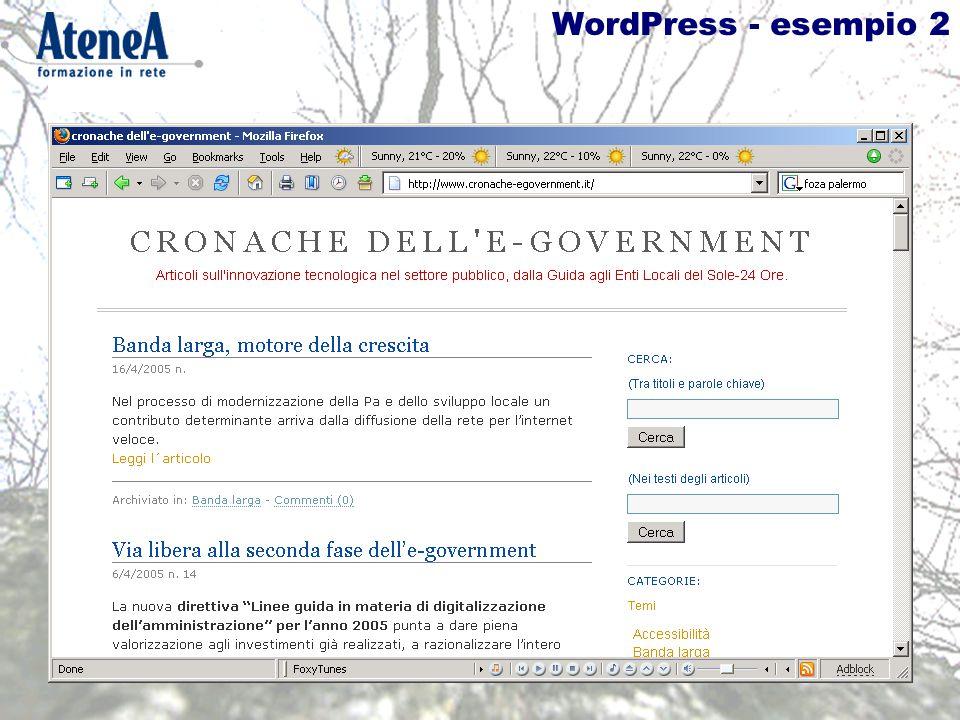 WordPress - esempio 2