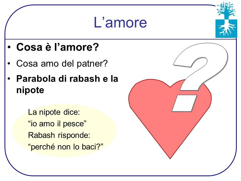 L'amore Cosa è l'amore. Parabola di rabash e la nipote Cosa amo del patner.
