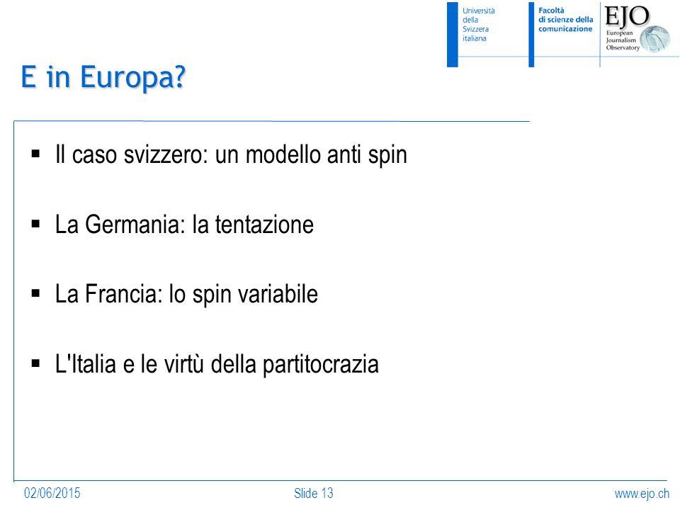 www.ejo.ch02/06/2015Slide 13 E in Europa.