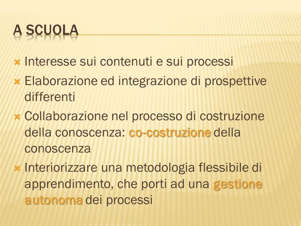  Interesse sui contenuti e sui processi  Elaborazione ed integrazione di prospettive differenti co-costruzione  Collaborazione nel processo di cost