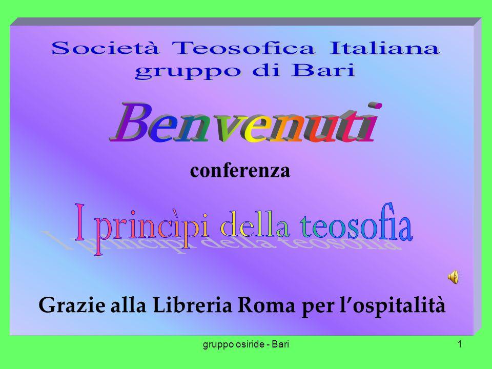 gruppo osiride - Bari1 conferenza Grazie alla Libreria Roma per l'ospitalità