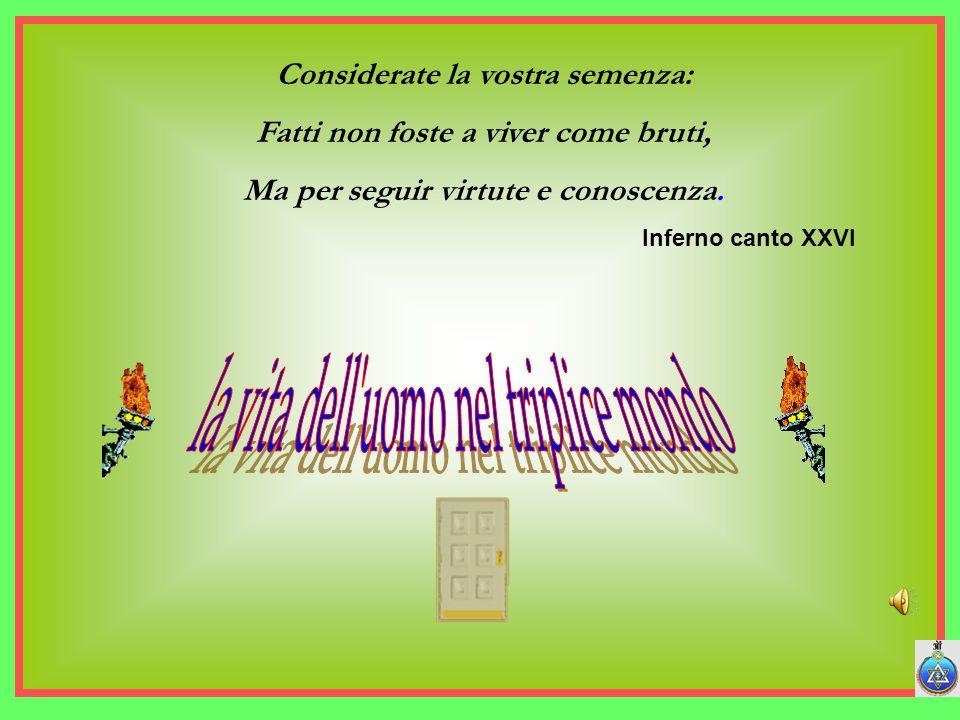 gruppo osiride - Bari34 Considerate la vostra semenza: Fatti non foste a viver come bruti, Ma per seguir virtute e conoscenza.