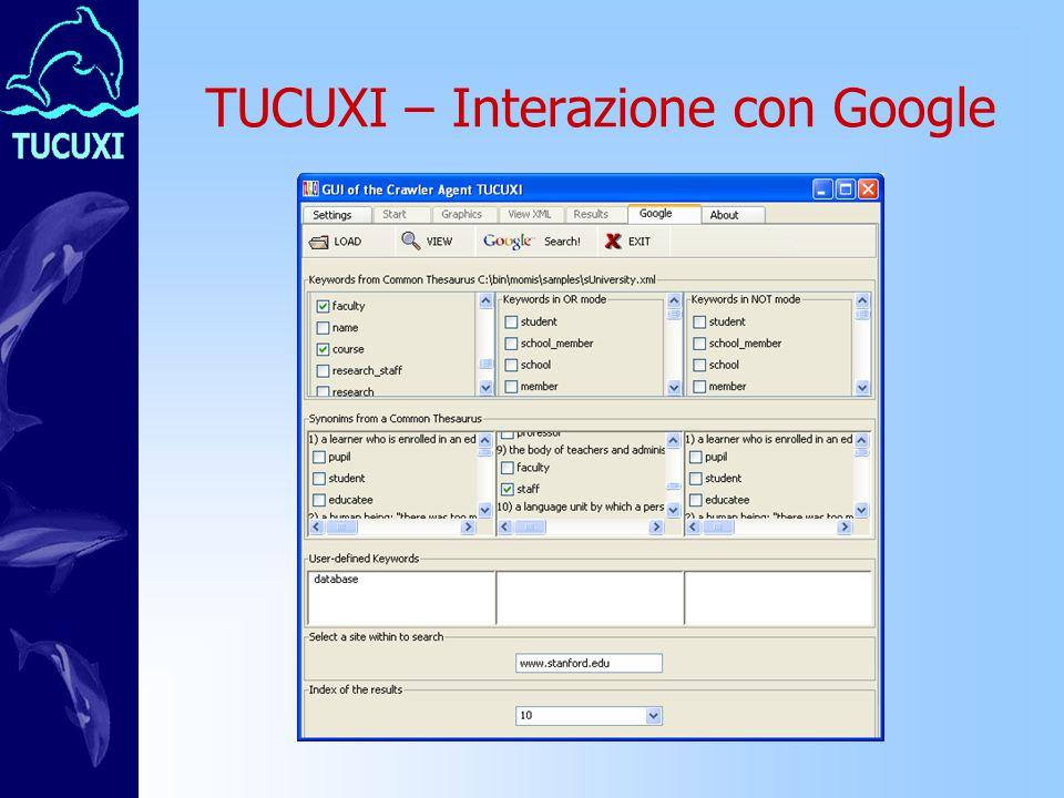 TUCUXI – Interazione con Google