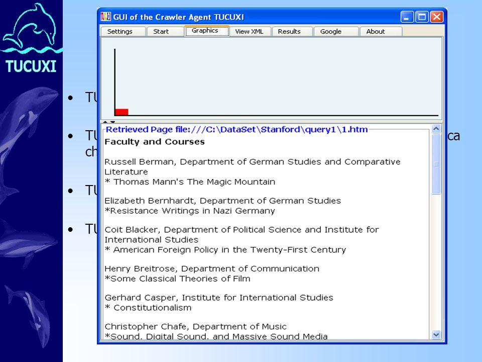 Conclusioni TUCUXI offre svariate funzionalità TUCUXI adotta un comportamento intelligente sia per la ricerca che per la valutazione del grado di affinità (approccio NLP) TUCUXI è anche un meta-motore di ricerca (Google e ODP) TUCUXI sbaglia se sbaglia il part of speech tagger
