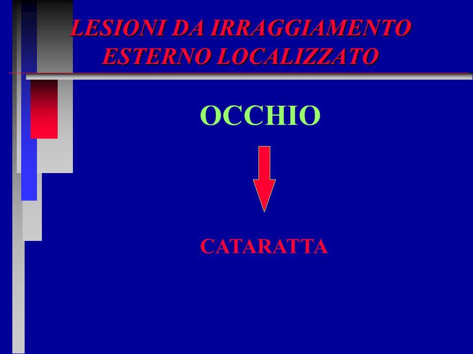LESIONI DA IRRAGGIAMENTO ESTERNO LOCALIZZATO OCCHIO CATARATTA