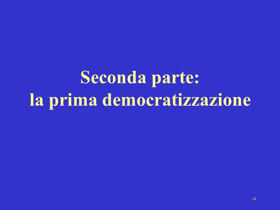 12 Seconda parte: la prima democratizzazione