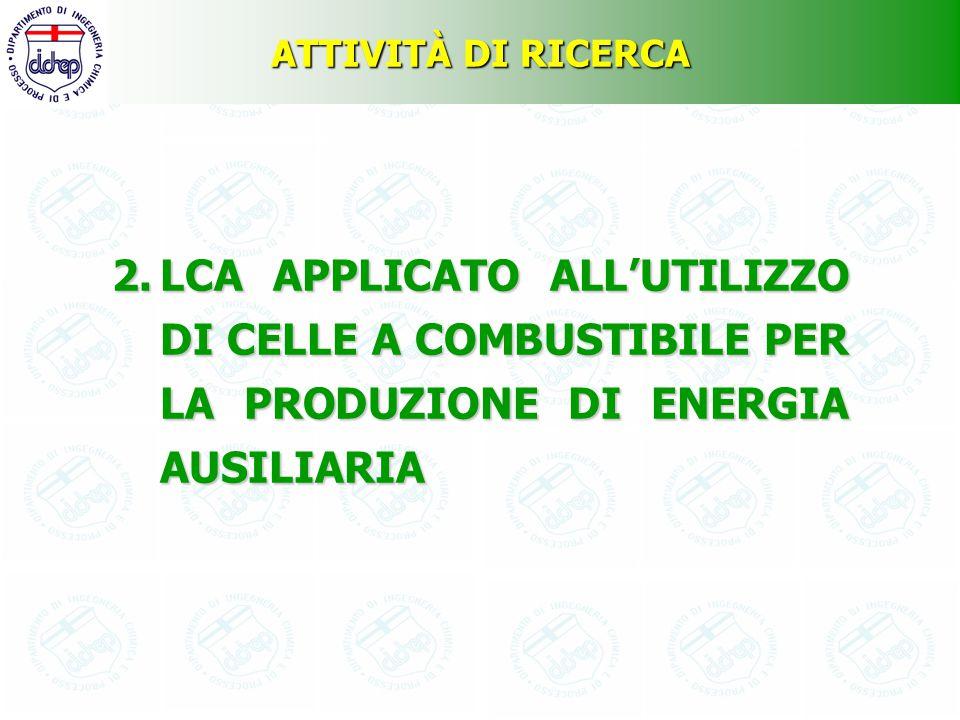 ATTIVITÀ DI RICERCA 2.LCA APPLICATO ALL'UTILIZZO DI CELLE A COMBUSTIBILE PER LA PRODUZIONE DI ENERGIA AUSILIARIA