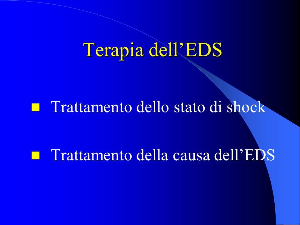 Terapia dell'EDS Terapia dell'EDS Trattamento dello stato di shock Trattamento della causa dell'EDS