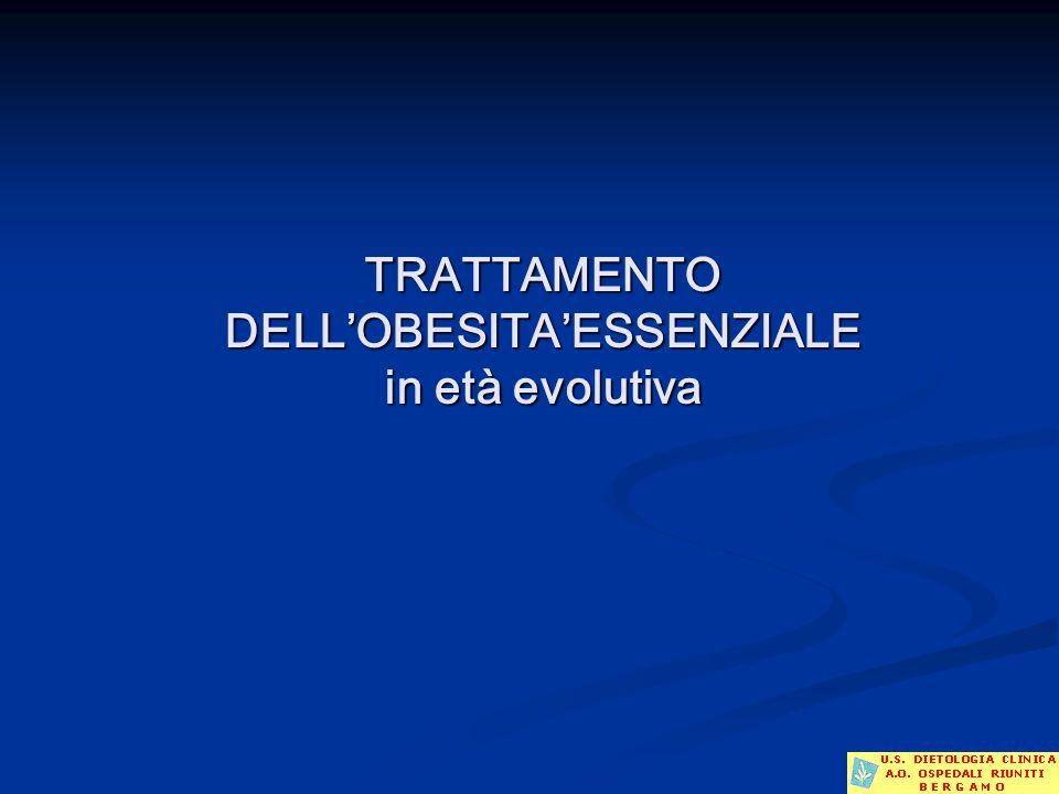TRATTAMENTO DELL'OBESITA'ESSENZIALE in età evolutiva