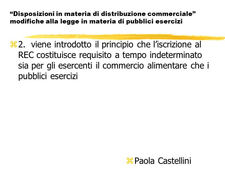 Disposizioni in materia di distribuzione commerciale modifiche alla legge in materia di pubblici esercizi z2.