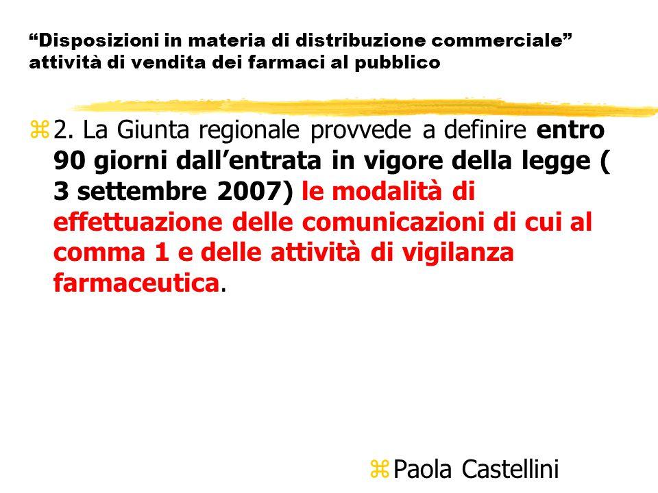 Disposizioni in materia di distribuzione commerciale attività di vendita dei farmaci al pubblico z2.