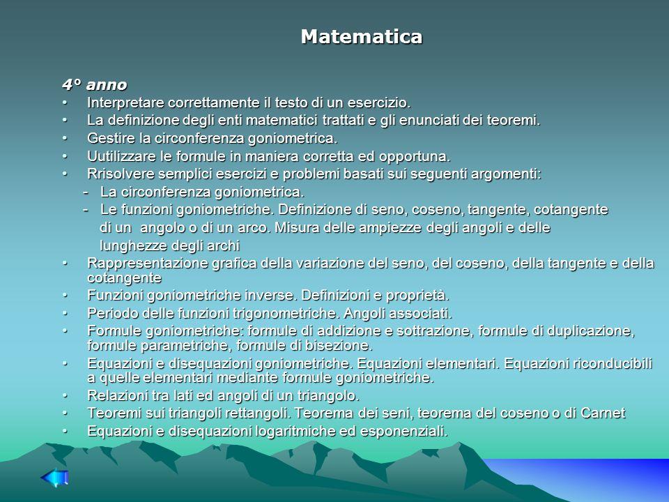 Matematica 4° anno Interpretare correttamente il testo di un esercizio.Interpretare correttamente il testo di un esercizio.
