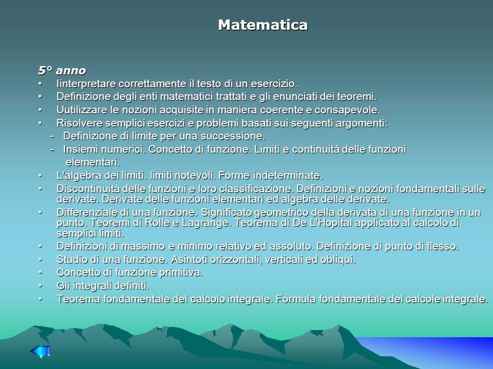Matematica 5° anno Iinterpretare correttamente il testo di un esercizio.Iinterpretare correttamente il testo di un esercizio.