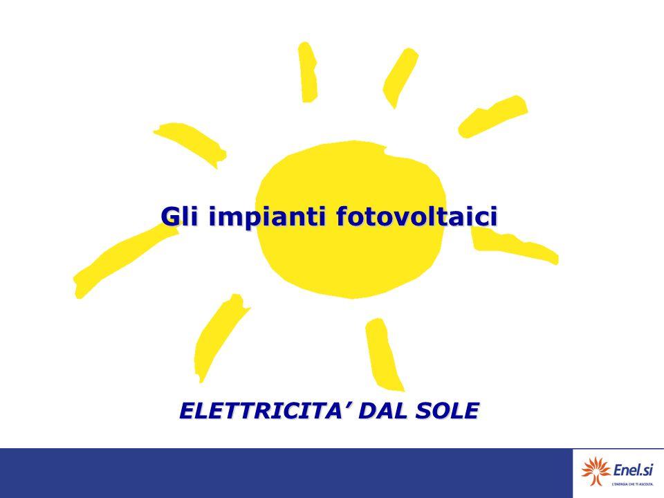 Gli impianti fotovoltaici ELETTRICITA' DAL SOLE