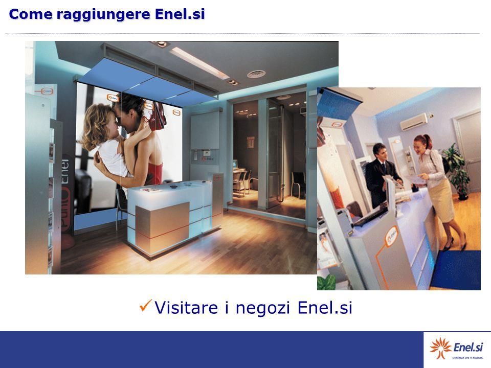 Visitare i negozi Enel.si Come raggiungere Enel.si