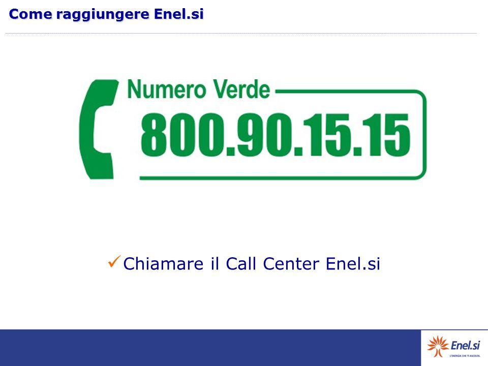 Chiamare il Call Center Enel.si