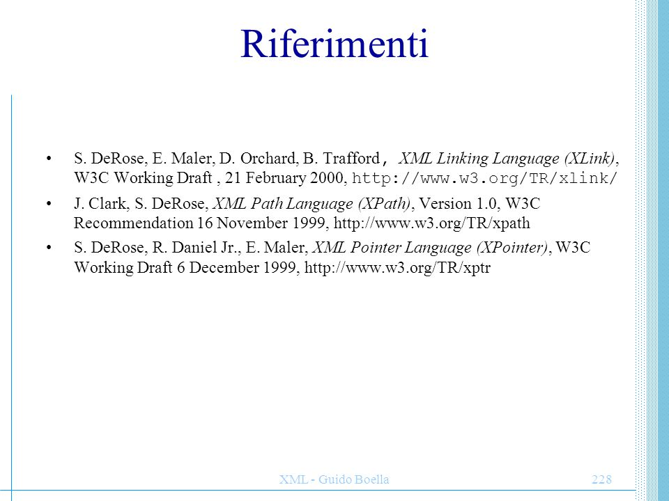 XML - Guido Boella229 PROPRIETA di XMLDOM async* Indicates whether asynchronous download is permitted.
