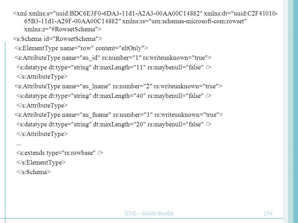 XML - Guido Boella255 XML e XSL