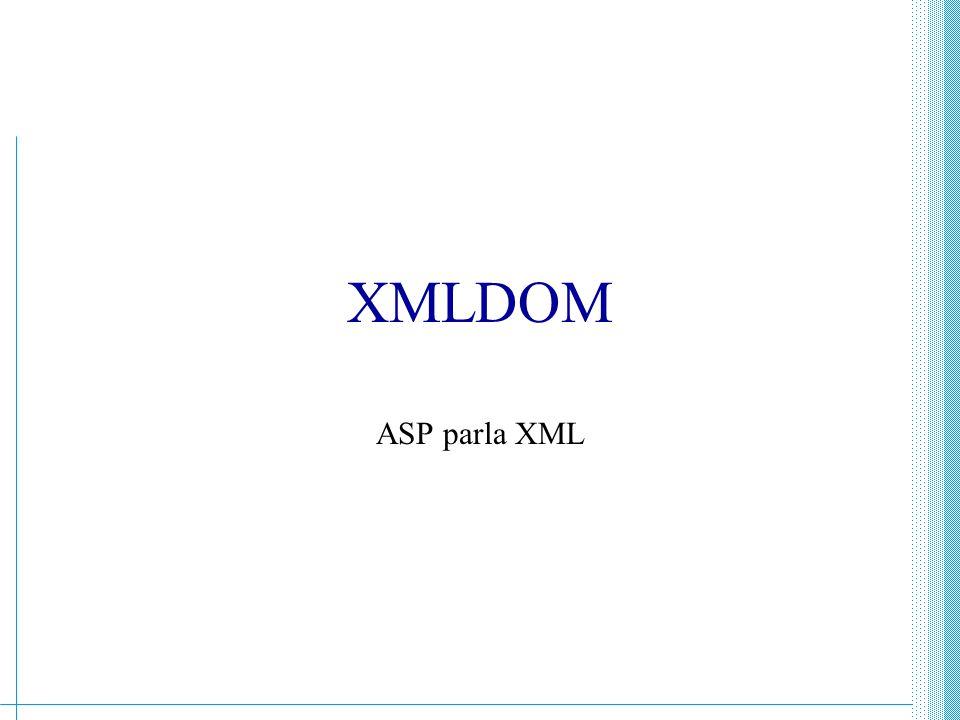 XML - Guido Boella339 XMLDOM Asp offre una serie di metodi per gestire file XML Il contenuto di un file XML diventa un oggetto di ASP e non solo una stringa di caratteri I recordset di un database possono essere trasformati in un file XML Necessari IE5, IIS5 con ADO2.5 per piena funzionalità