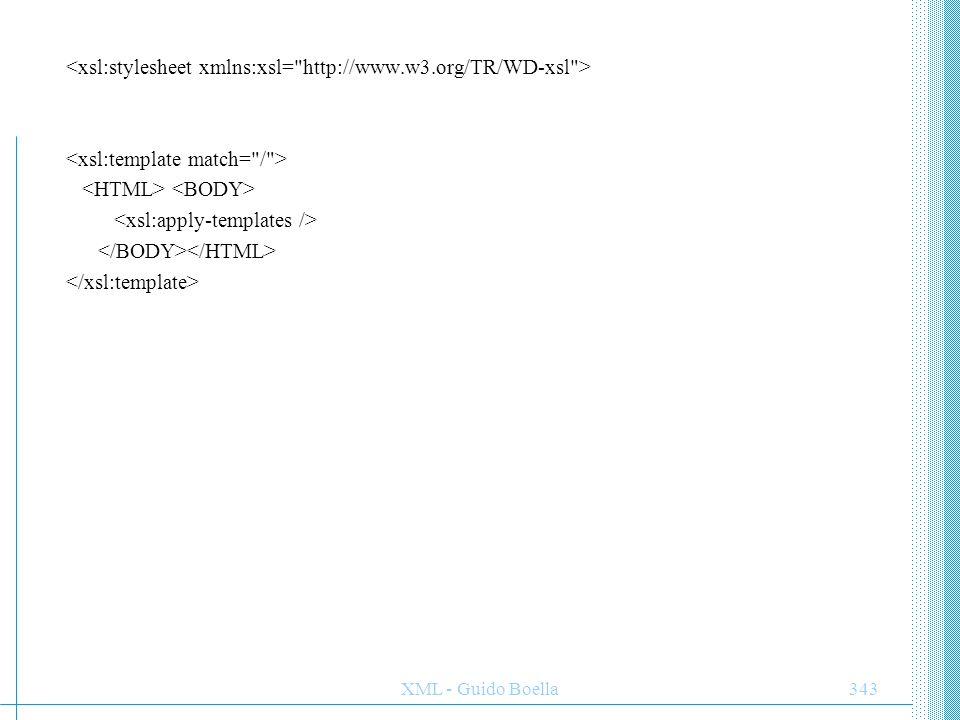 XML - Guido Boella344 Personal Contacts Business Contacts PROVA DI STYLESHEETS
