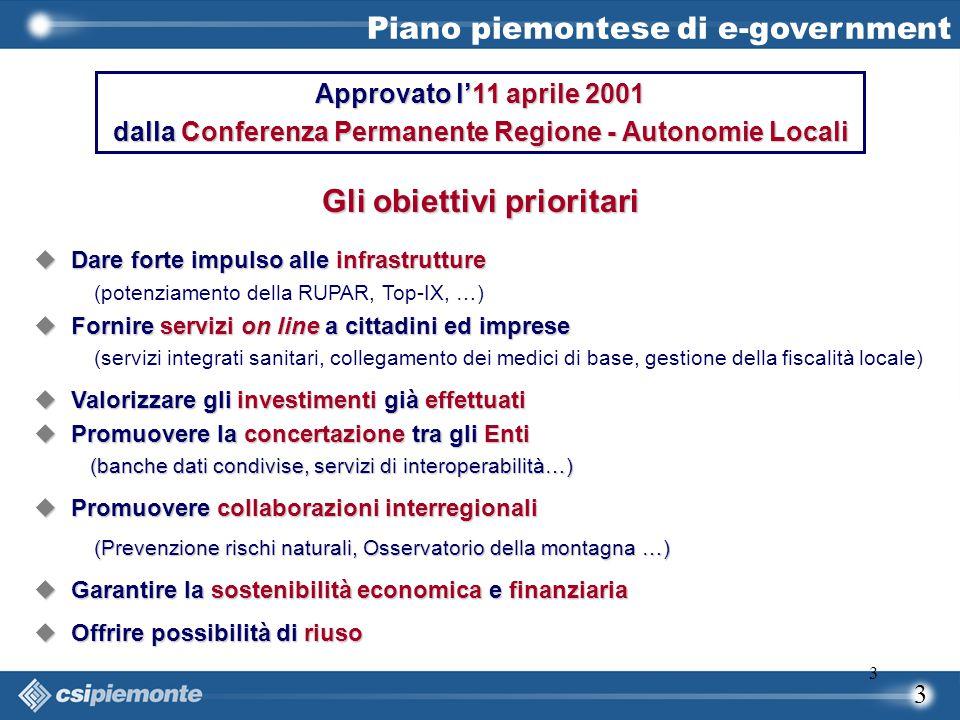 3 3 Approvato l'11 aprile 2001 dalla Conferenza Permanente Regione - Autonomie Locali  Dare forte impulso alle infrastrutture (potenziamento della RU