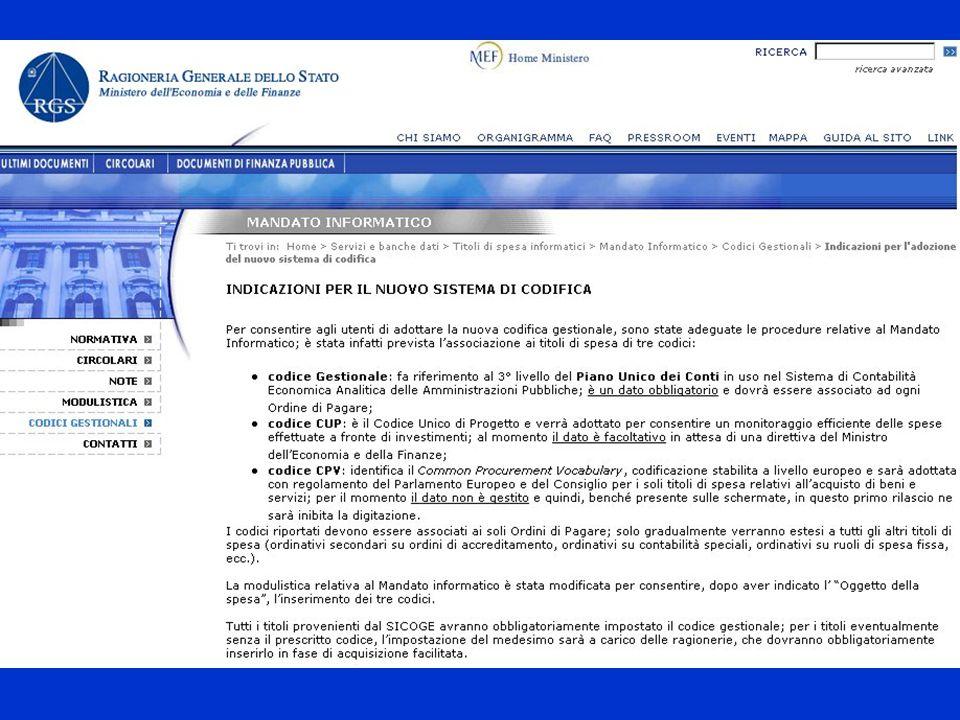 La normativa ATTUAZIONE - DELIBERA CIPE n.