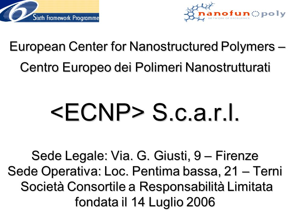 European Center for Nanostructured Polymers – Centro Europeo dei Polimeri Nanostrutturati S.c.a.r.l.