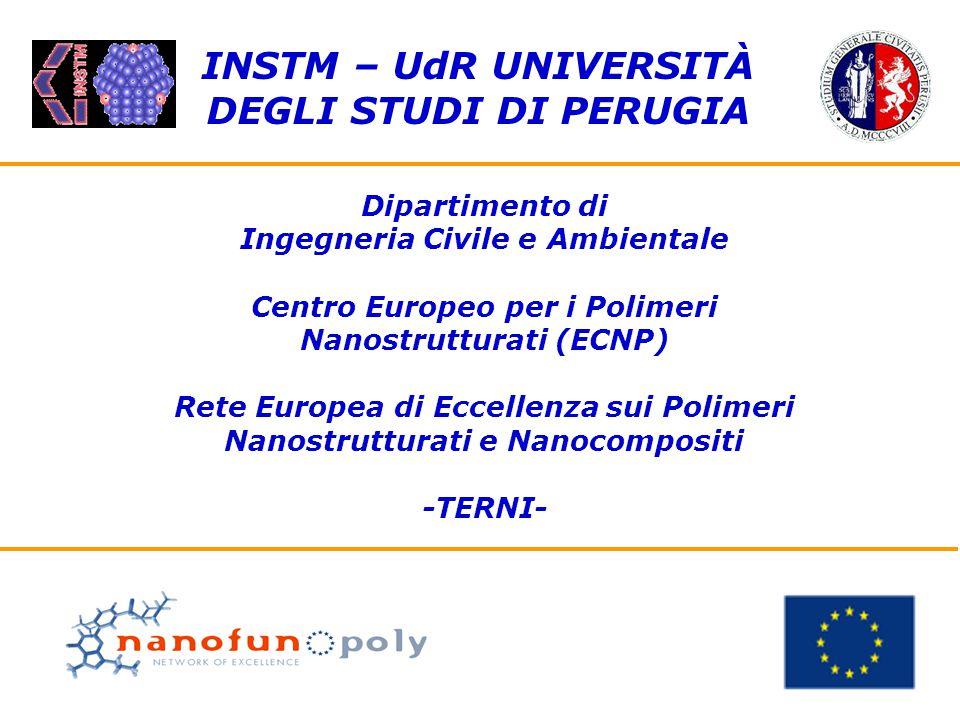 Dipartimento di Ingegneria Civile e Ambientale Centro Europeo per i Polimeri Nanostrutturati (ECNP) Rete Europea di Eccellenza sui Polimeri Nanostrutt