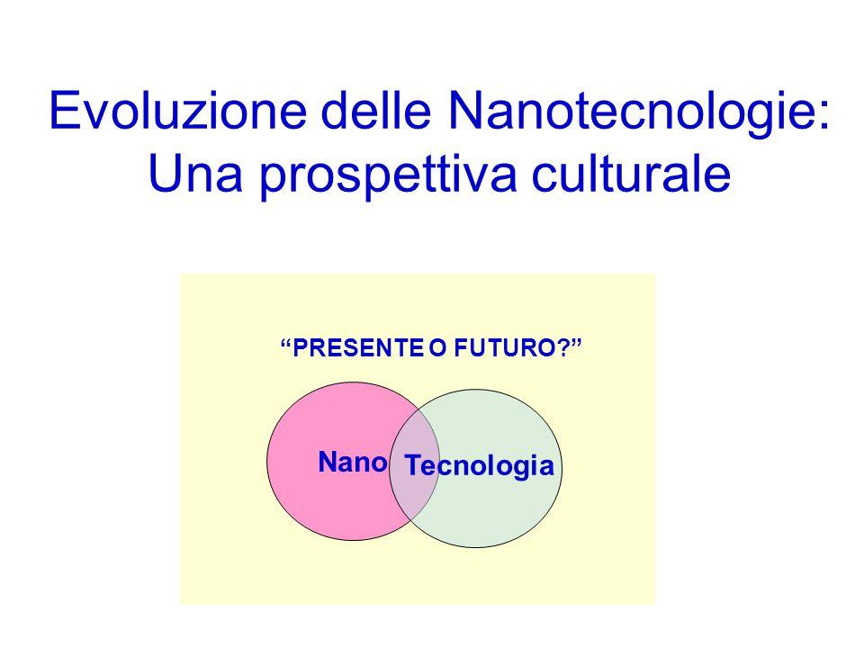 """Nano Tecnologia """"PRESENTE O FUTURO?"""" Evoluzione delle Nanotecnologie: Una prospettiva culturale"""