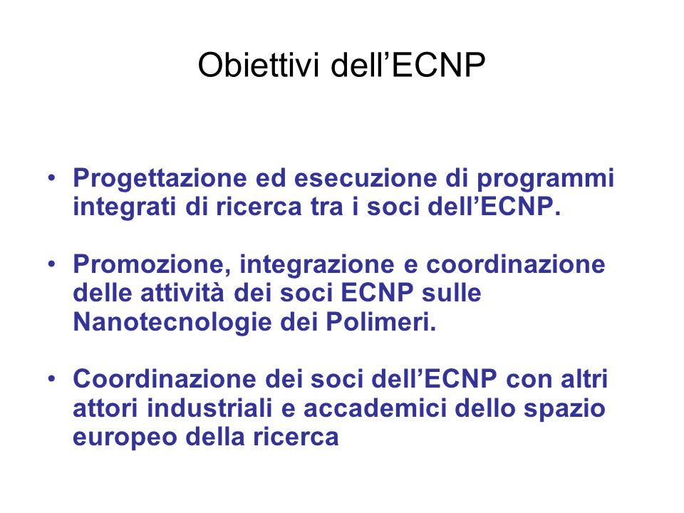 Obiettivi dell'ECNP Progettazione ed esecuzione di programmi integrati di ricerca tra i soci dell'ECNP. Promozione, integrazione e coordinazione delle