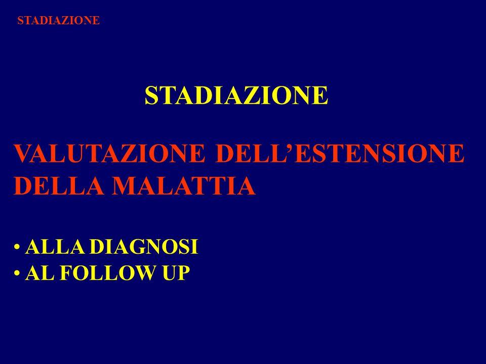 STADIAZIONE VALUTAZIONE DELL'ESTENSIONE DELLA MALATTIA ALLA DIAGNOSI AL FOLLOW UP STADIAZIONE