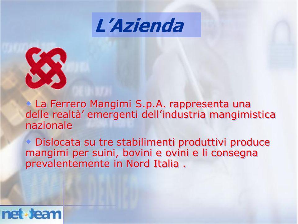 L'Azienda  La Ferrero Mangimi S.p.A. rappresenta una delle realtà' emergenti dell'industria mangimistica nazionale  Dislocata su tre stabilimenti pr
