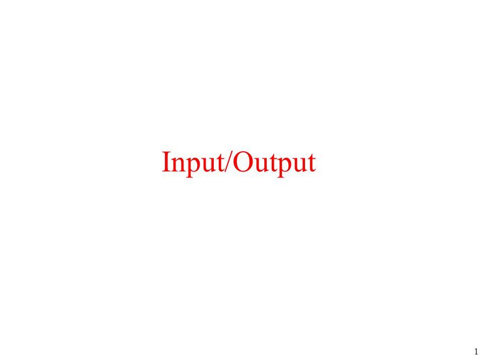 1 Input/Output