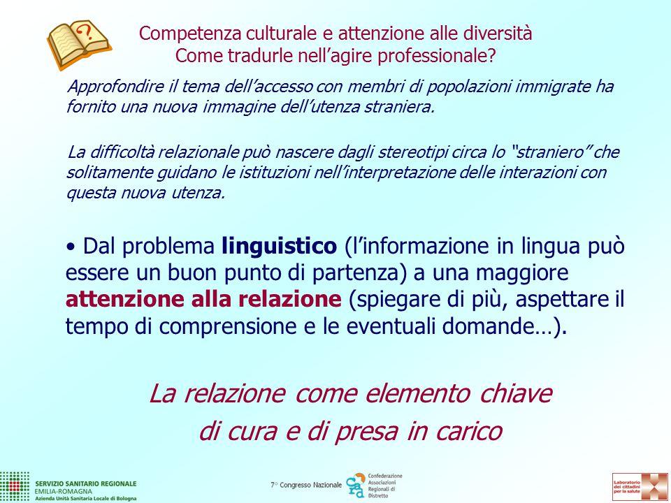 Competenza culturale e attenzione alle diversità Come tradurle nell'agire professionale.