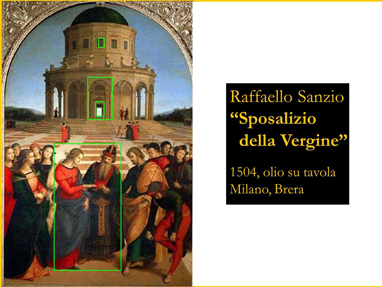 """Raffaello Sanzio """"Sposalizio della Vergine"""" 1504, olio su tavola Milano, Brera"""