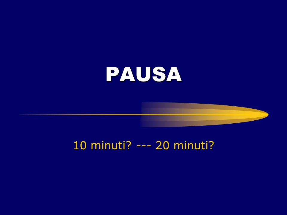 PAUSA 10 minuti? --- 20 minuti?