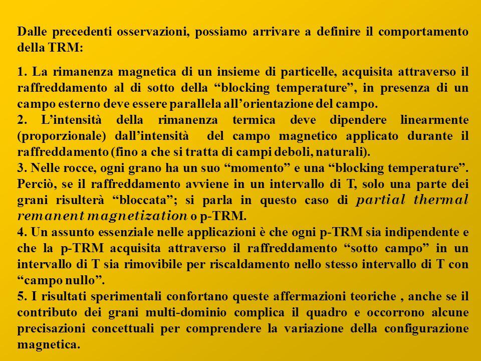 Dalle precedenti osservazioni, possiamo arrivare a definire il comportamento della TRM: 1.
