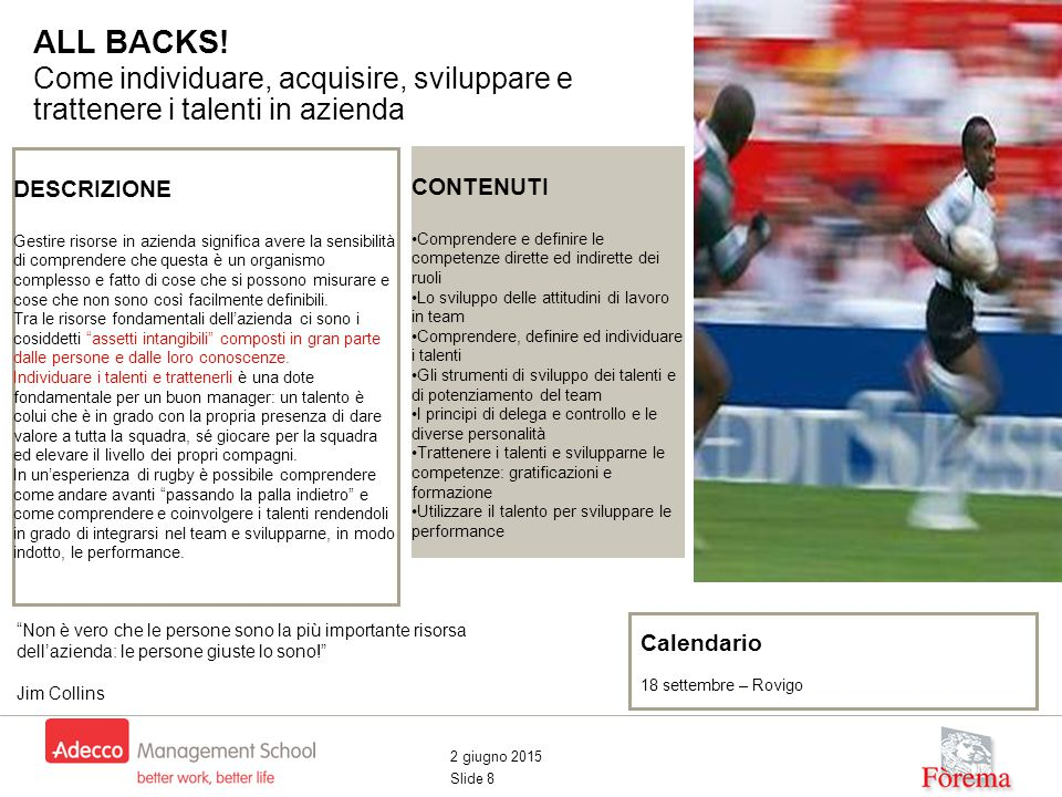 2 giugno 2015 Slide 8 ALL BACKS.