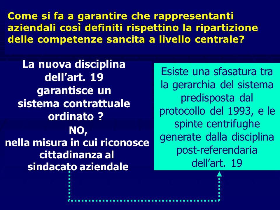 """Il nuovo art. 19 sulle rappresentanze sindacali aziendali dopo il referendum """"Rappresentanze sindacali aziendali possono essere costituite ad iniziati"""