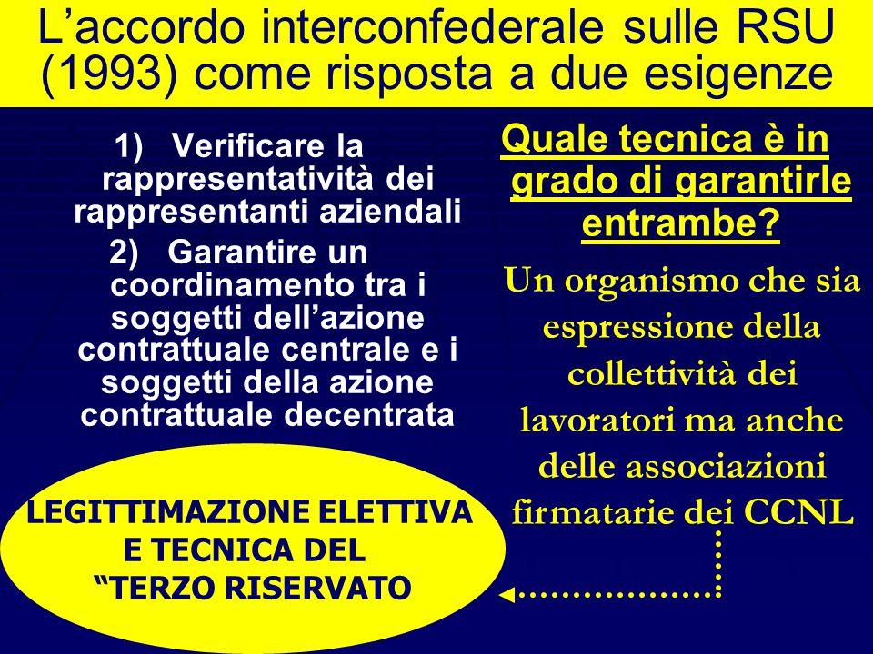 La nuova disciplina dell'art. 19 garantisce un sistema contrattuale ordinato ? NO, nella misura in cui riconosce cittadinanza al sindacato aziendale E