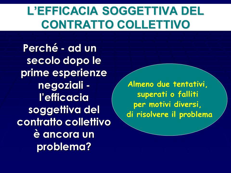 I problemi giuridici del contratto collettivo di diritto comune Si tratta di fornire una risposta a due domande A chi si applica il contratto colletti