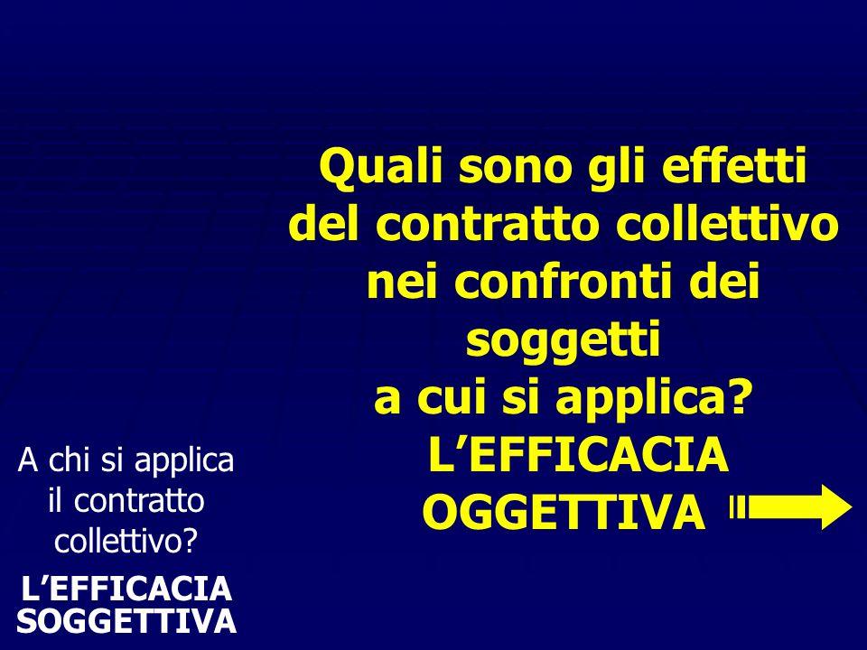 Il contratto collettivo incide sul singolo prestatore di lavoro soltanto indirettamente, attraverso l'atto di recesso del datore, vincolato dalla legg