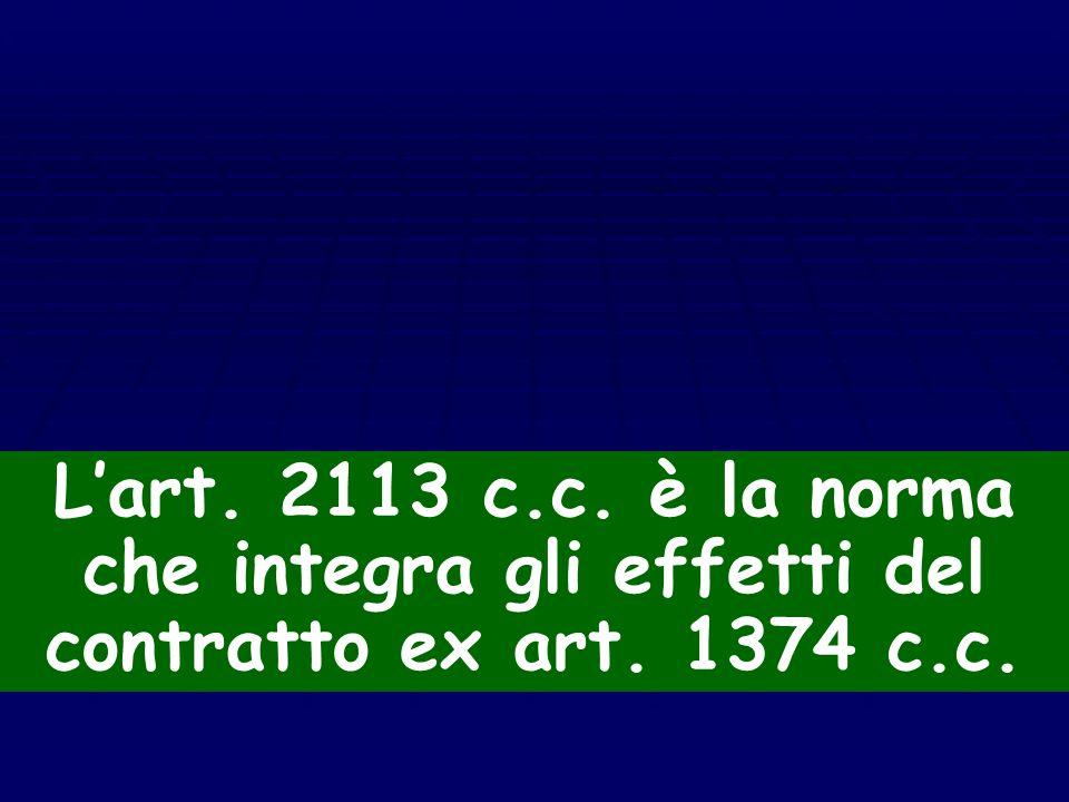 Il pezzo mancante La novella del 1973 (riforma del processo del lavoro) modifica l'art. 2113 cod. civ. La novella del 1973 (riforma del processo del l