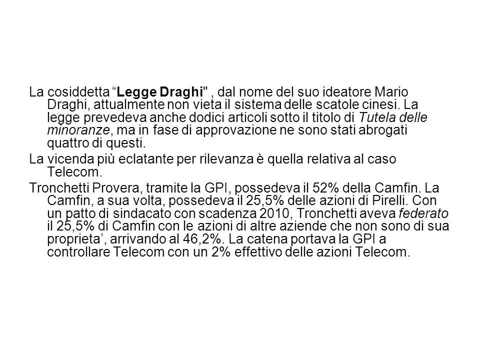"""La cosiddetta """"Legge Draghi"""