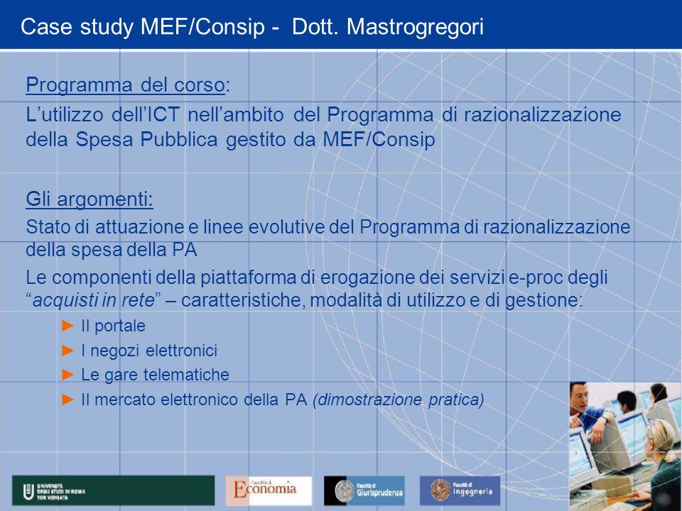 Case study MEF/Consip - Dott.