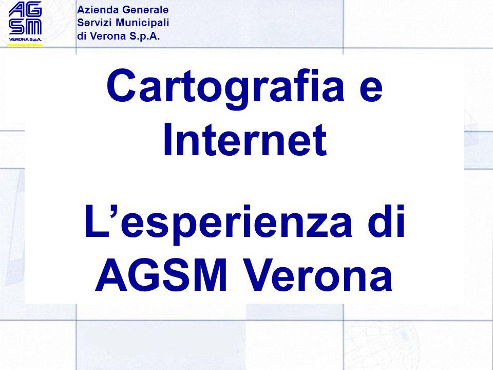 Azienda Generale Servizi Municipali di Verona S.p.A. Cartografia e Internet L'esperienza di AGSM Verona